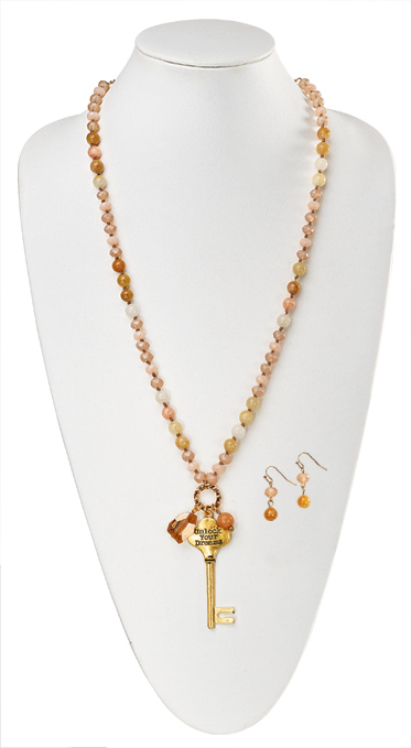 Unlock Your Dreams Necklace and Earrings Set