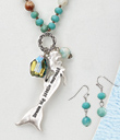 Mermaid Dreamer Necklace and Earrings Set