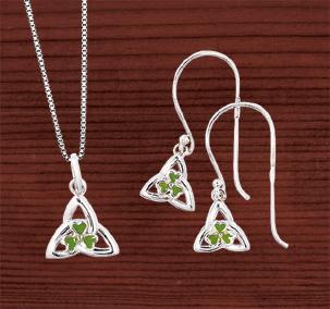 Shamrock & Trinity Knot Jewelry