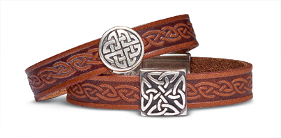 Celtic Medallion Leather Bracelets