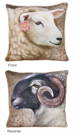 Ewe/Ram Pillow