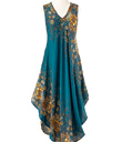 Teal and Amber Popover Dress