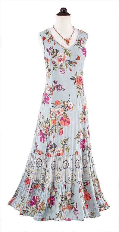 Spring Flowers Maxi Dress