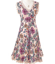 Lace Trimmed Blossoms Dress