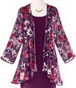 Velvet Burnout Roses Jacket