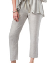Grey Linen Drawstring Pants