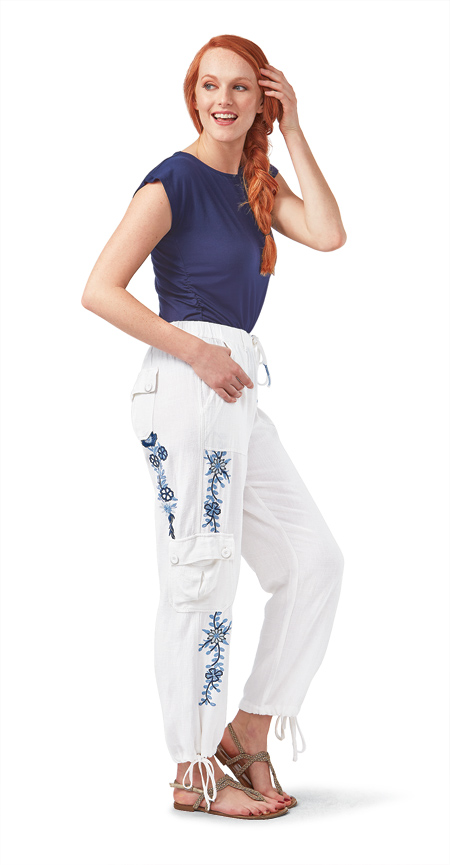 White Drawstring Pants