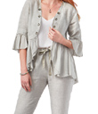 Grey Linen Jacket & Pants