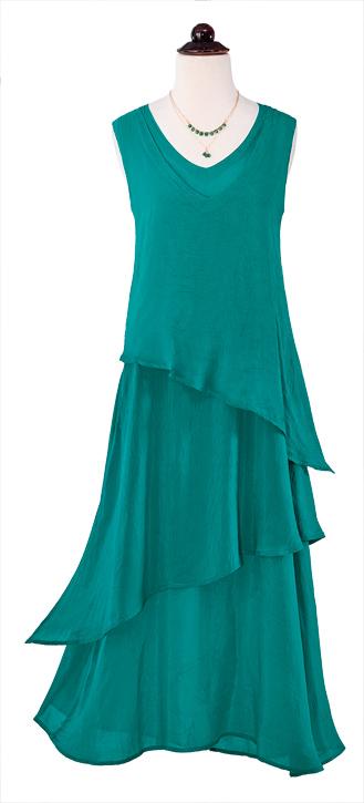 Emerald Tiered Maxi Dress