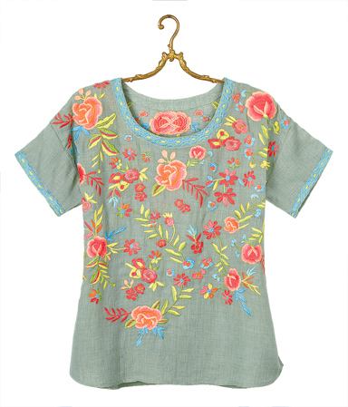 Artist Embroidered Top