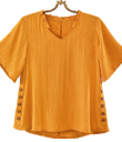 Saffron Top with Ruffled Collar