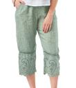 Eyelet-Ruffle Crop Pants