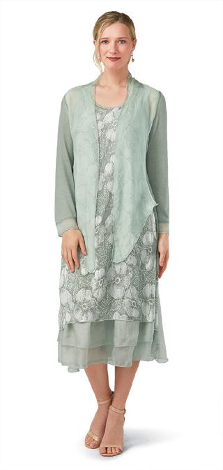 Pale Sage Dress & Topper