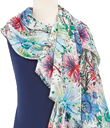 Watercolor Flowers Scarf