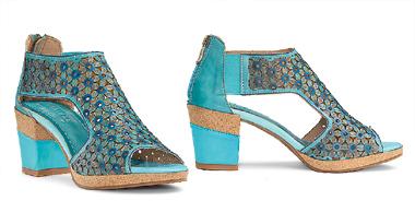 Turquoise Flower Gladiator Shoes