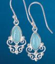 Chalcedony Filigree Earrings