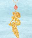 Vintage Fairy on Beaded Chain