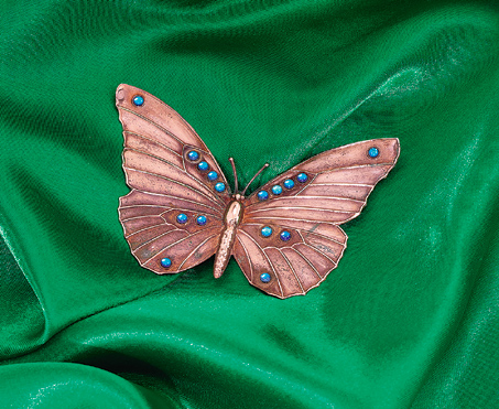 Copper Butterfly Brooch