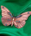 Copper Butterfly Brooch