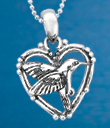 Hummingbird & Heart Jewelry