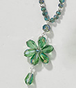Crystal Beaded Flower Drop Necklace