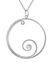 Spiral Hoop Pendant