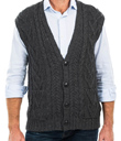 Men's Aran Sweater Vest