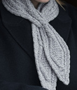 Aran Criss-Crossed Scarf