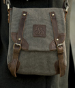 Rugged Canvas Double-Buckle Bag