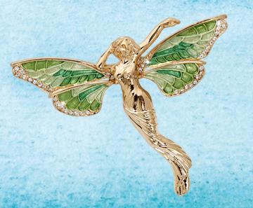 Green Fairy Pin