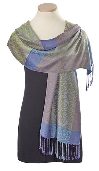 Fields of Lavender Knotwork Pashmina Scarf