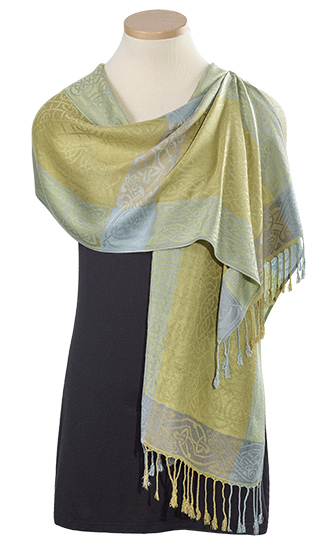 Fields of Gold Knotwork Pashmina Scarf