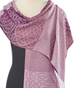 Irish Rose Knotwork Pashmina Scarf