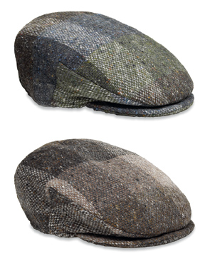 Checkered Tweed Flat Cap