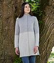Ladies Herringbone Wool Coat Grey 2 Gaelsong