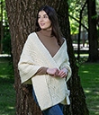 Classic Cable Wool Wrap White Merino Wool 2 Gaelsong