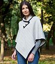 Ladies Herringbone Cape Grey Irish Merino Wool 2 Gaelsong