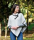 Ladies Herringbone Cape Grey Irish Merino Wool 3 Gaelsong
