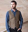 Irish Tweed Herringbone Waistcoat