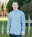 Irishman's Homespun-Style Granddad's Shirt Cloud Gaelsong