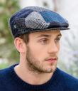 Blue Tweed Patch Cap