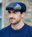 Blue Tweed Patch Cap 2 Gaelsong