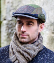 Green Tweed Patch Cap 2 Gaelsong