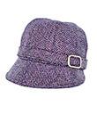 Lavender Herringbone Tweed Cap