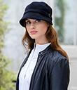 Black Flapper Tweed Hat