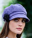 Lavender Newsboy Hat
