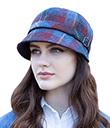 Ladies Burgundy Tweed Flapper Hat