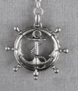 Magnifier Key Chain Silver Anchor Gaelsong