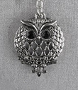 Magnifier Key Chain Silver Owl Gaelsong