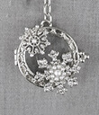 Magnifier Key Chain Silver Snowflake Gaelsong